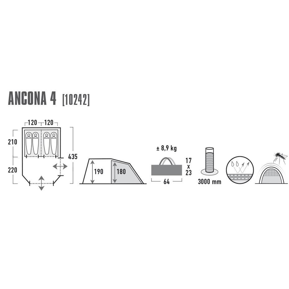 Namiot Ancona 4 10242 HighPeak